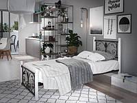 Металлическая кровать Крокус (мини) на деревянных ногах ТМ Тенеро
