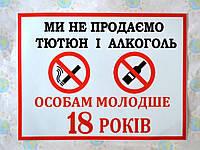 Наклейка запрещающая Алкоголь и табак