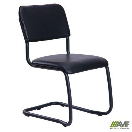 Офісний стілець Квест чорний/кожзам AMF