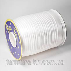 Косая Бейка Атласная 1,5 см в рулоне 90 м цвет Белый