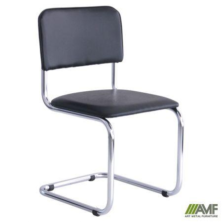 Офісний стілець Сильвія хром/кожзам AMF
