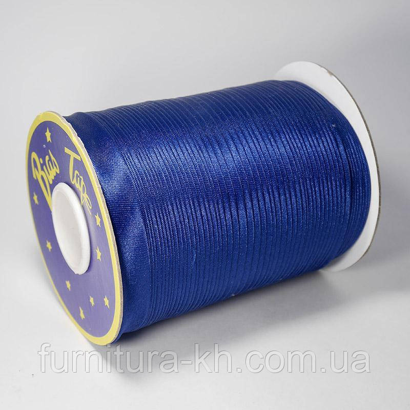 Косая Бейка Атласная 1,5 см в рулоне 90 м цвет т-голубой