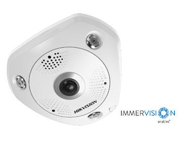 DS-2CD63C5G0-IVS  12Мп Fisheye IP камера серии DeepinView с объективом ImmerVision