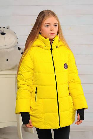 Детская демисезонная куртка для девочки Анабель, размеры 122-158, фото 2