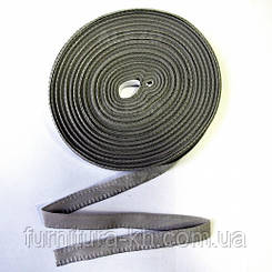 Тесьма для брюк в рулоне 50 метро цвет  т-серый