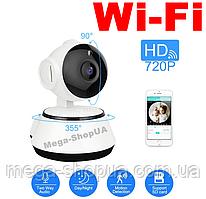 Поворотная WiFi Вай Фай IP камера видеонаблюдения для дома, квартиры, офиса. Камера відеонагляду WE54W