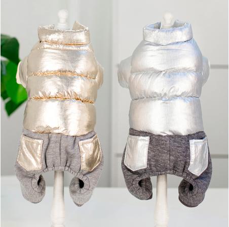 Одежда для маленьких собак модная осенне-зимняя куртка для собак Теплые Комбинезоны для щенка чихуахуа француз
