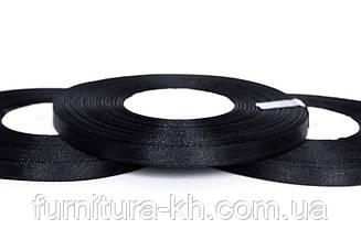 Лента атласная,ширина 0,5 см (33 м ) цвет черный