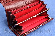 Кошелек темно бордовый, натуральная кожа, фото 2