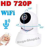 Беспроводная поворотная WiFi Вай Фай IP камера видеонаблюдения для дома, квартиры. Камера відеонагляду SD564W