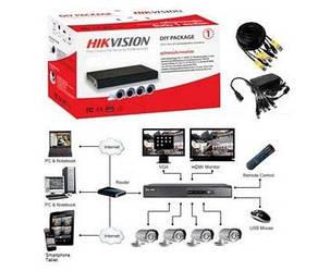 DS-J142I/7104HGHI-SH  Комплект TurboHD видеонаблюдения Hikvision