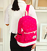 Рюкзак женский городской в горошек Werring Розовый, фото 5