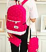 Рюкзак женский городской в горошек Werring Розовый, фото 4