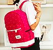 Рюкзак женский городской в горошек Werring Розовый, фото 6