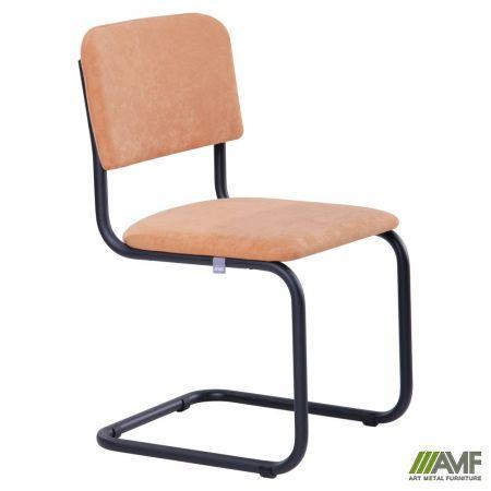 Офисный стул Сильвия черный каркас/кожзам AMF