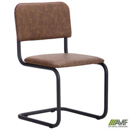 Офисный стул Сильвия черный каркас/кожзам Неаполь AMF