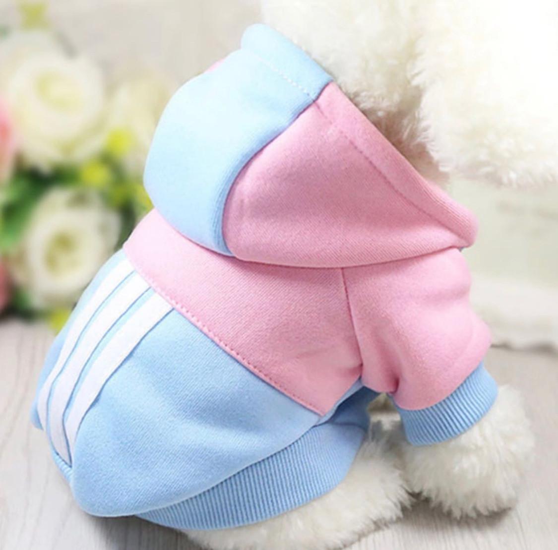 Одежда для собак зимняя мягкая толстовка одежда для чихуахуа L