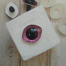 Блискучі оченята для іграшок 28,5*23,5 мм рожевий