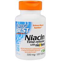 Ниацин Doctors Best, niacin, 120 капсул по 500 мг, витамин В-3