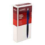 Ручка шариковая автоматическая Axent City AB1082-02-A, синяя, 0.7 мм, фото 2
