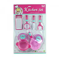 Набор посуды - кастрюля, сковородка, кухонные принадлежности, терка, NF772-24