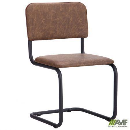 Офісний стілець Сильвія чорний каркас/WAX Coffee AMF