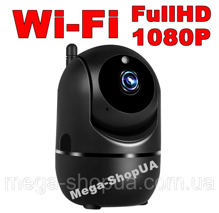 Беспроводная поворотная IP-камера видеонаблюдения. WI-FI камера с ночным видением. Камера відеонагляду MJ093B
