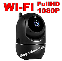 Цифровая IP-камера FullHD 1080P. Камера Wi-Fi. Поворотная. Видеоняня. Слежение за объектом. Ночное виденье