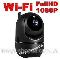 Беспроводная поворотная WiFi Вай Фай IP камера видеонаблюдения для дома, квартиры. Камера відеонагляду MJ093B
