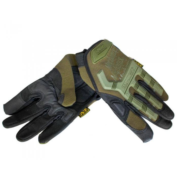 Тактические перчатки MECHANIX Mpact Pro полнопалые олива