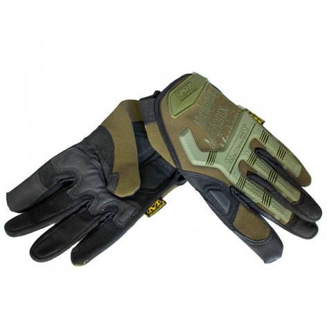 Тактические перчатки MECHANIX Mpact Pro полнопалые олива, фото 2