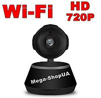 Цифровая камера Wi-Fi Black. Поворотная WiFi камера HD 720P. Видеонаблюдение. Видеоняня. Ночное виденье