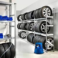 Стеллаж металлический для хранения  более 36 колес