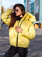 Куртка оверсайз. Теплая курточка зимняя короткая
