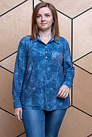 Женская блузка Батник джинс. Размер 50-58