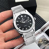 Мужские металлические часы Hublot Geneve Black, Хублот, чоловічий металевий годинник