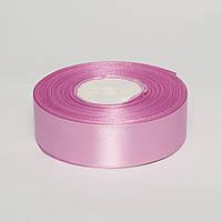 Лента атлас 2.5 см, 33 м, № 43 розово-сиреневая 2