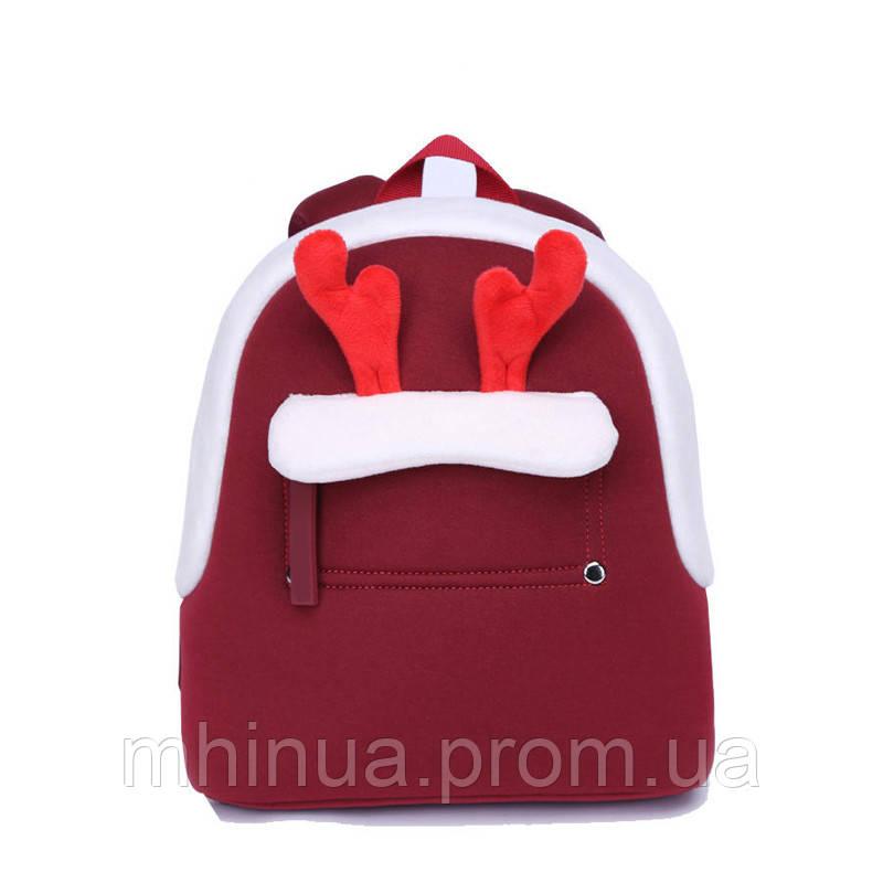 Дитячий рюкзак Nohoo Олень Маленький Червоний (NHQ010)