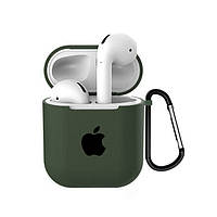 Чехол для AirPods/AirPods 2 silicone case with Apple Dark olive