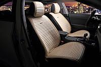 Накидки на сидения TOYOTA LAND CRUISER PRADO 150 2010- Велюр с экокожей - Premium - Бежевые