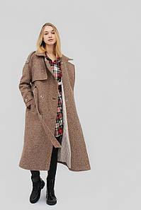 """Пальто """"LINDA"""" коричневый осень-зима-весна"""