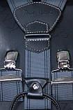 Cерые мужские подтяжки, фото 2