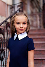 Школьное платье с коротким рукавом , фото 2