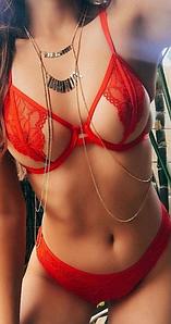 Эротический комплект белья, красный