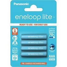 Акумулятори Panasonic Eneloop Lite AAA/HR03 NI-MH 550 mAh BL 4 шт