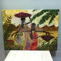 """Картина из шерсти """"Африканки"""""""