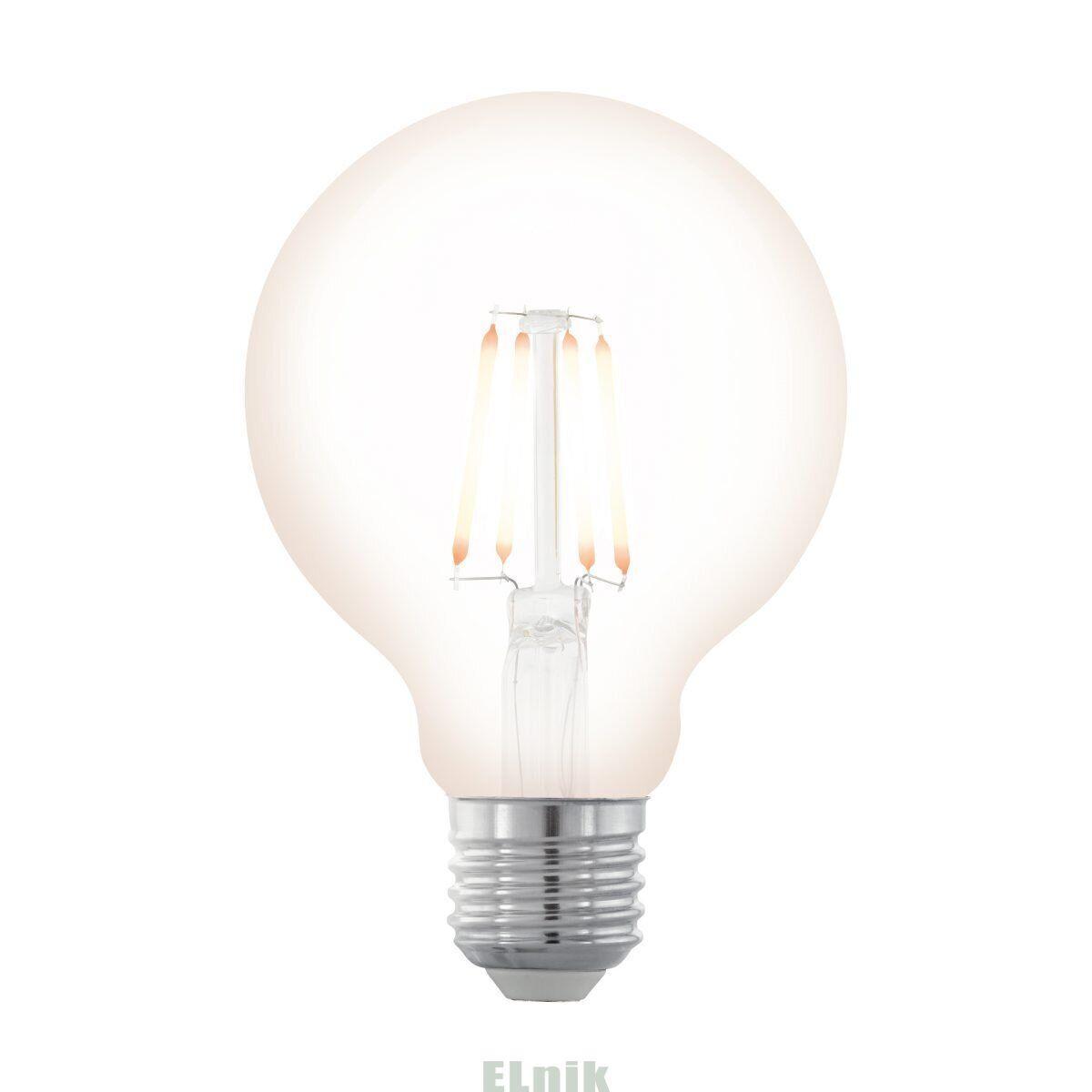 """Лампа светодиодная филаментная диммируемая """"Северное сияние"""" LM LED E27 G80 2200K, Eglo [11706]"""