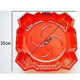 Большая Арена Бейблейд красная с ловушками 40 см Beyblade arena, фото 2