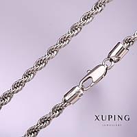 Ланцюжок Xuping плетіння Джгут кручений s-5мм L-50см родій