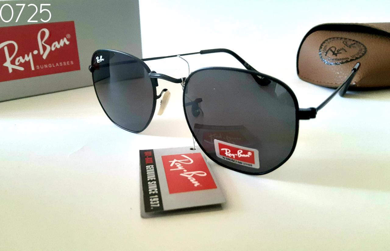 Черные Женские солнцезащитные очки  Ray Ban шестигранники